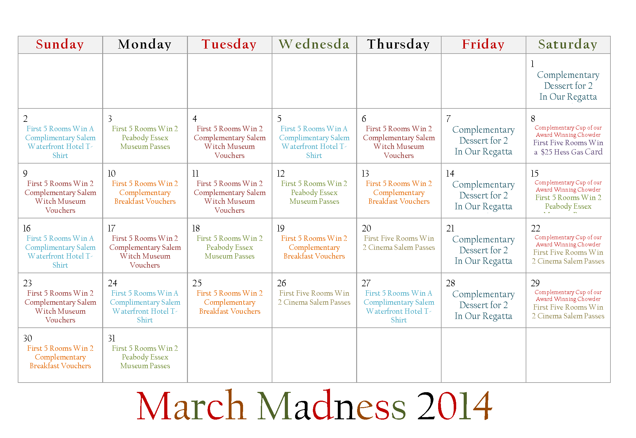 March madness dates in Perth